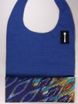 Royal Blue Textured DressTiez with Multi-Colored Flame Lining