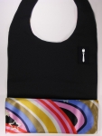 Black Limited DressTiez with Brilliant Rainbow Lining