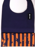 Navy Velour Style DressTiez with Orange/Blue Lining